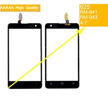 10Pcs/lot For Nokia Lumia 625 N625 RM-941 RM-943 Touch Screen Touch Panel Sensor Digitizer Front Glass Outer Lens Touchscreen international language original motherboard for lumia 625 625h rm 943 board motherboard free shipping