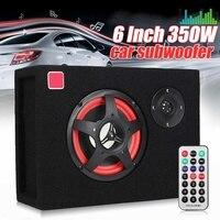 6 дюймов Вт 350 Вт под сиденьем активный автомобильный сабвуфер динамик аудио стерео бас мощность ful 4ом 6 дюймов карточка автомобиля мощность ...