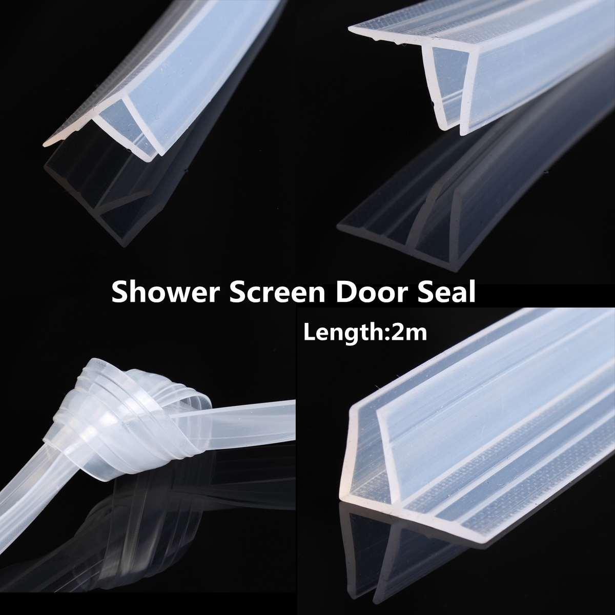 2m 6/8MM Plastic Rubber Bathroom Shower Screen Door Sealing Strip Glass Window Seal Strips Door Window Glass Fixture Accessories