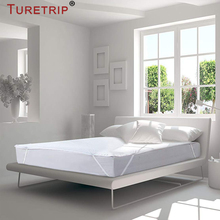 Turetrip 150X200CM Terry Bed Sheet Waterproof Mattress Protector For Bed Hopspital Sheet Anti Mites Bed Cover For Mattress Pad