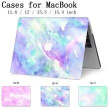 Чехол для ноутбука MacBook Чехол для ноутбука для MacBook Air Pro retina 11 12 13 15,4 дюймов с защитой экрана крышка клавиатуры