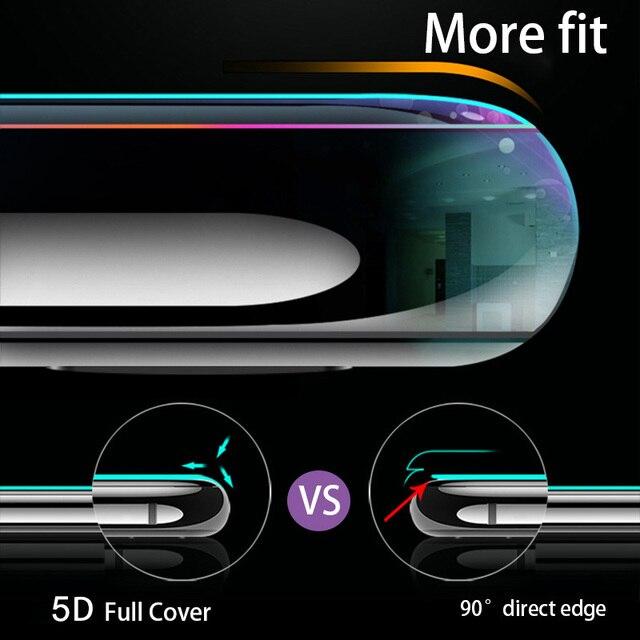 5D mi 8 pour Xiao mi rouge mi 6 pro boîtier en verre trempé pour Xiao mi 8 se A1 5X mi 6 sur rouge mi Note 5 pro Plus 4x Film de protection de couverture