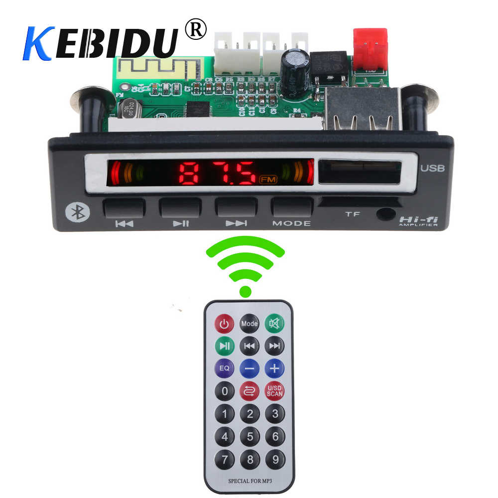 Kebidu Draadloze Bluetooth 5 V-12 V LED display MP3 WMA WAV Decoder Boord USB FM TF Audio Module HI-FI Muziek Speaker MP3 + Remote