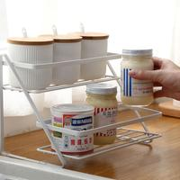 Adeeing 2 Layer Iron Storage Rack For Kitchen Sauces Bathroom Organize