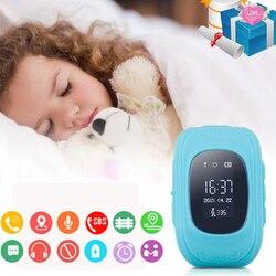 حار بيع ساعة ذكية للطفل GPS الأطفال Smartwatch الاطفال Q50 OLED الطفل هاتف مراقبة بنظام تحديد المواقع نداء تحديد الموقع تعقب مكافحة خسر