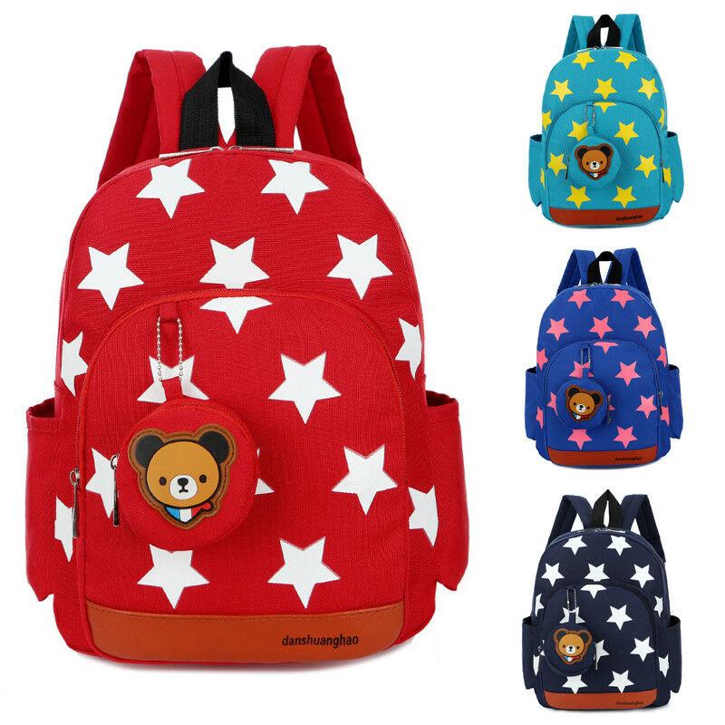 2019 HOT Baby Child Boy Girl Universal Bag Cute Cartoon Star Pattern Zipper School Bags