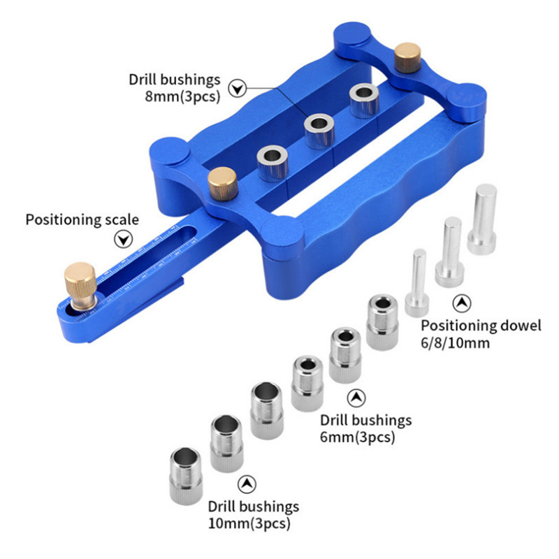 Self Centering Dowelling Jig Metric Dowel 6/8/10mm Drilling Tools for Wood Working Woodworking Joinery Punch Locator DurableSelf Centering Dowelling Jig Metric Dowel 6/8/10mm Drilling Tools for Wood Working Woodworking Joinery Punch Locator Durable