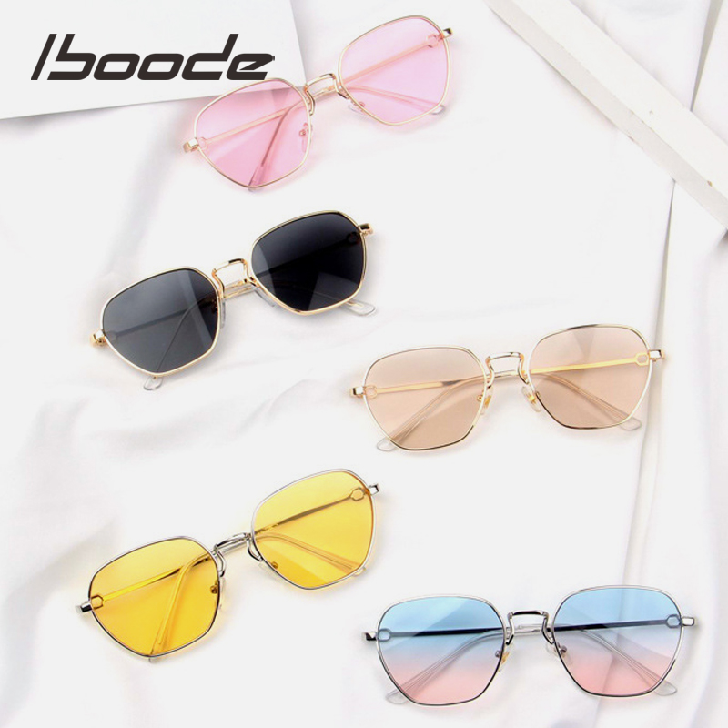 Iboode 2019 Hipsters Baby Sunglasses Kids Alloy Clear Lens Sun Glasses For Children Boys Girls UV400 Protection Goggles Fashion