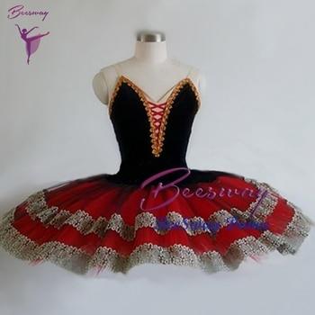 f7ebfb2fd Rojo Negro profesional Ballet tutú Falda Mujer Don Quijote Ballet clásico  Tutus vestido bailarina baile traje personalizado