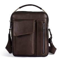 f2ee390f5c85 Tftp-сумка на плечо из натуральной кожи для мужчин портфель маленькая сумка  на плечо для