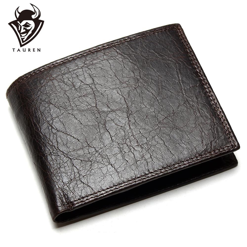 TAUREN 2019新しい男性財布100%本革クレイジーホースジッパーコインポケットトップグレインカウレザー財布男性