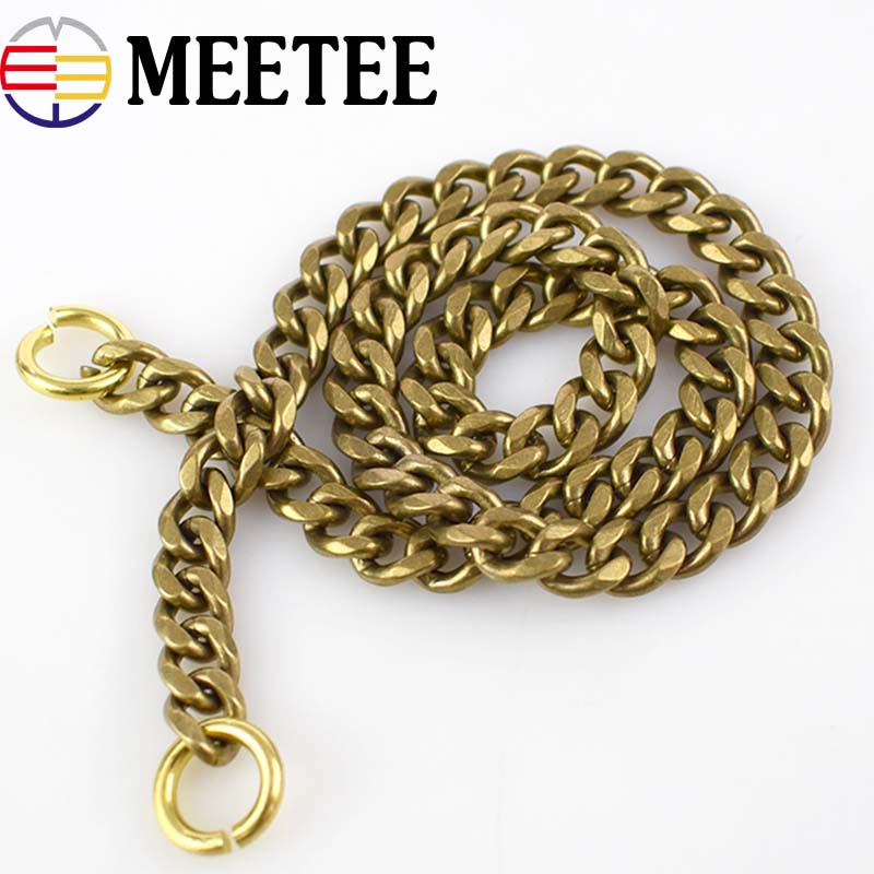 45cm Solid Brass Chain Buckle For Men Pants Keychain Bag Belt Strap Clasp Diy Crafts Trousers Wallet Chain Dog Collar Buckle Sales Of Quality Assurance Apparel Sewing & Fabric Buckles & Hooks