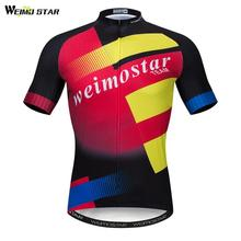 Weimostar Sports Cycling Jersey 2019 pro Team Men Bicycle Clothing Summer Short Sleeve MTB Bike Jersey Quick Dry Cycling Shirt стоимость