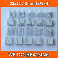 20pcs Silver 22x22x10 mm CPU Radiator Heatsink For BGA PGA Packages With Thermally Conductive Adhesive Tape