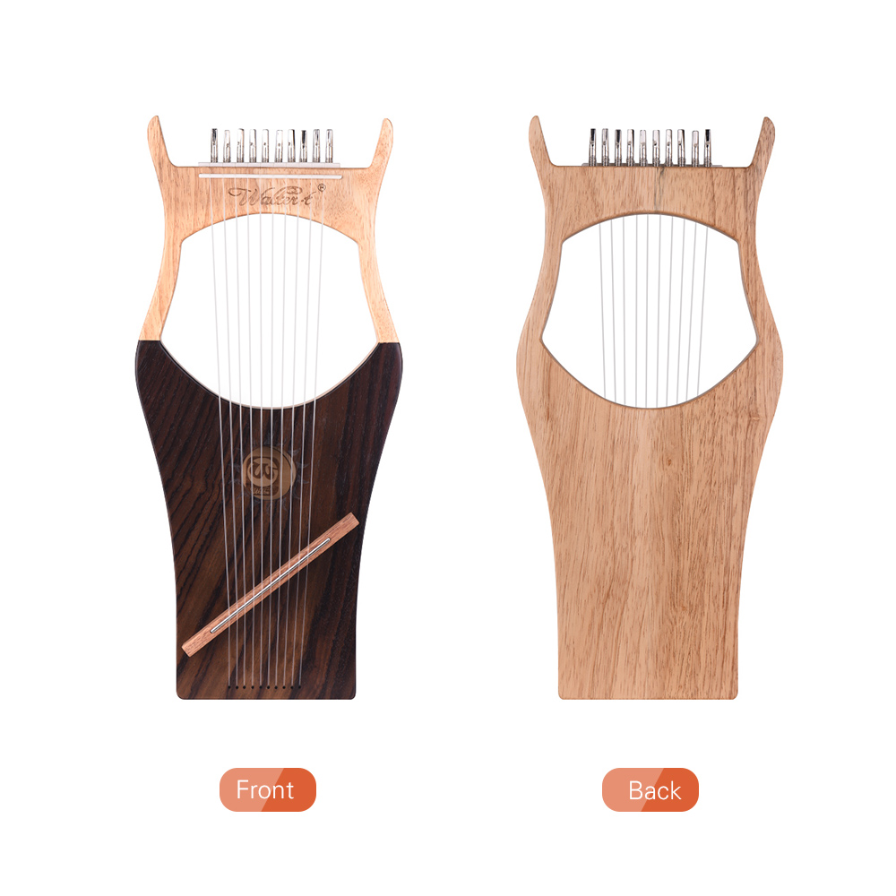 10 String деревянные Lyre harp металлические струны клен дерево Topboard красное дерево Backboard струнный инструмент с сумкой для переноски WH 11 - 5