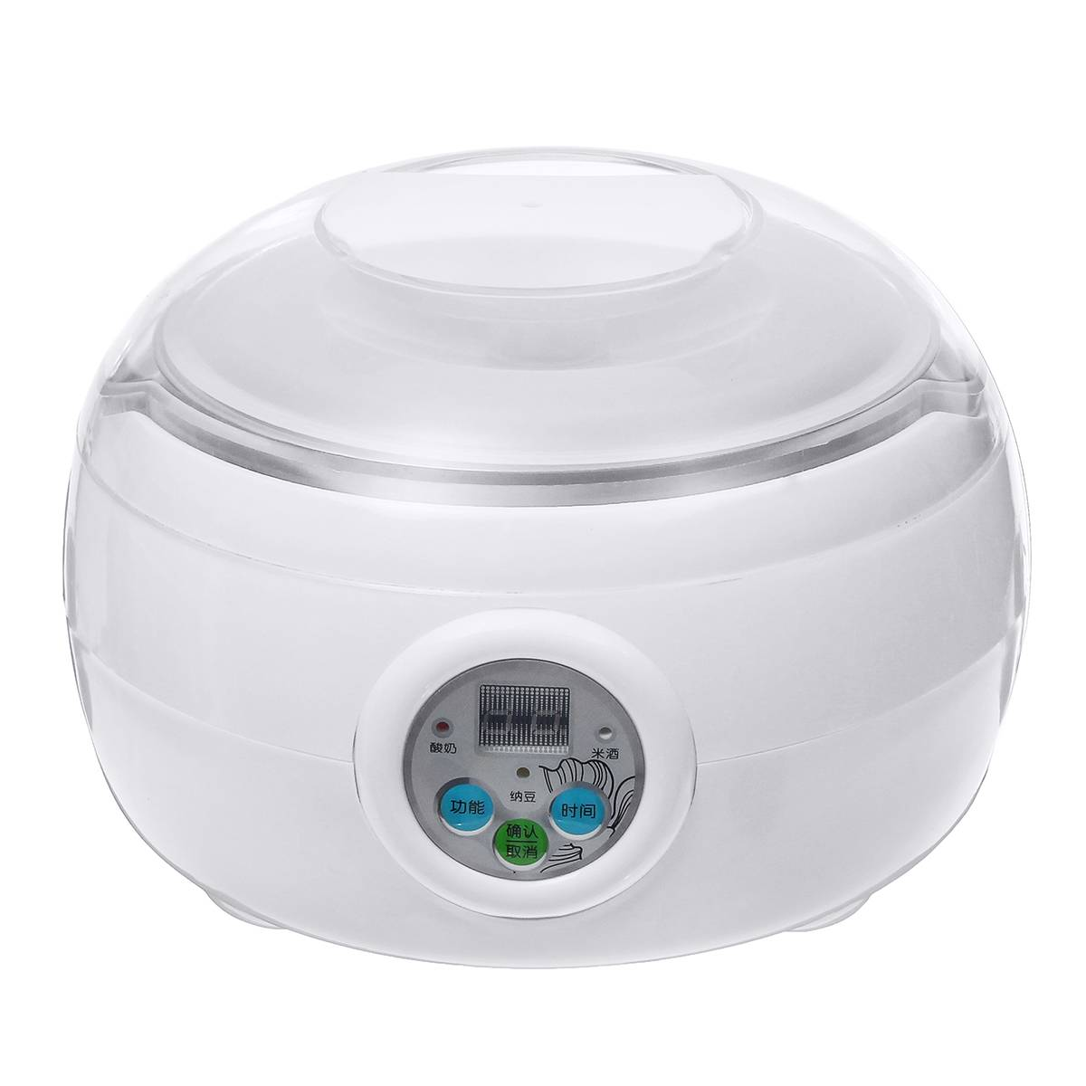 1.5L 220V 15W White Electric Automatic Yoghurt Maker Rice Wine Natto Cuisine Container Yogurt Maker Kitchen Appliance 14x21cm