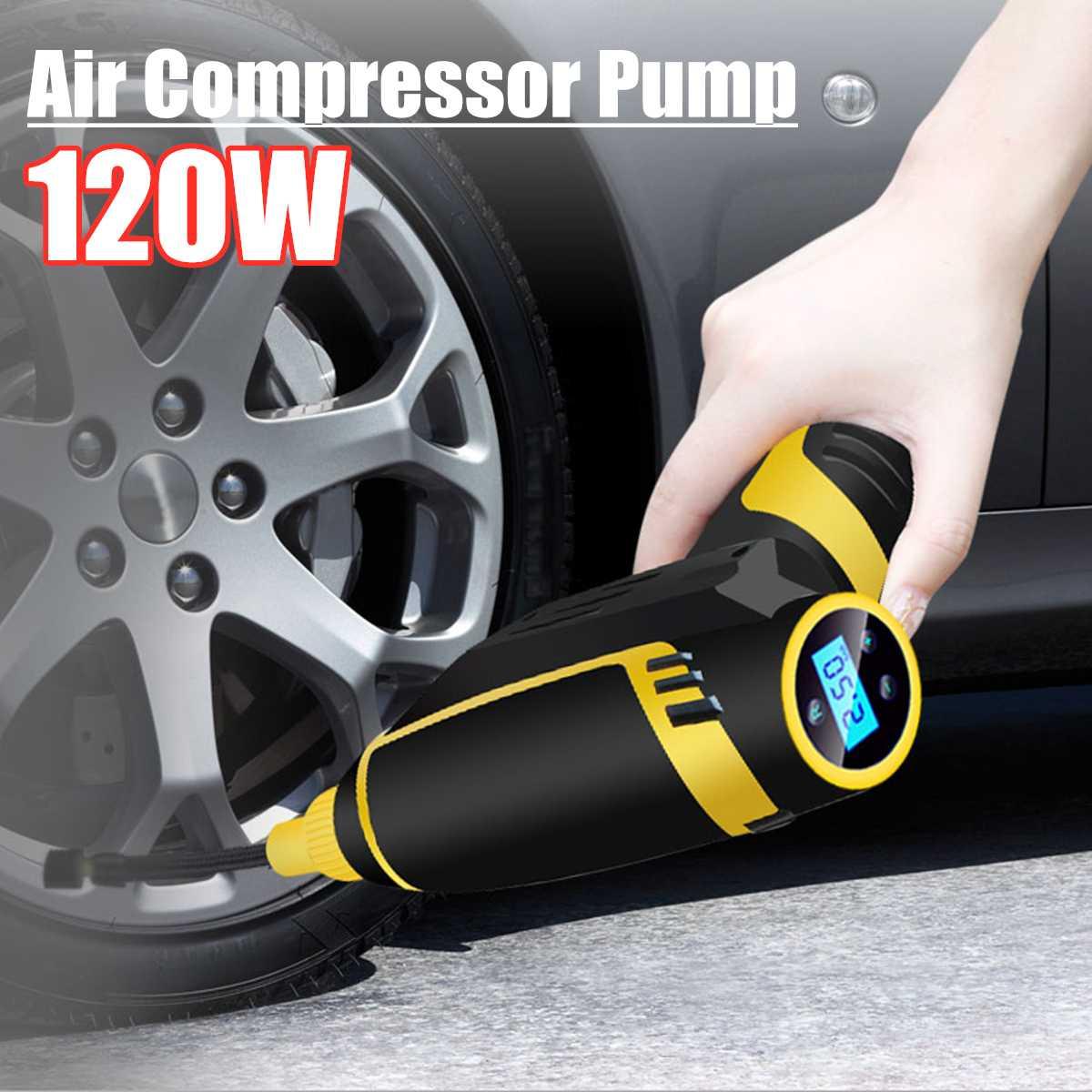 Gonfleur de pneu de voiture sans fil compresseur d'air pompe gonflable manomètre allume-cigare USB motos accessoires de vélo de voiture