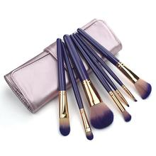 7 Pcs/set Makeup Brushes High Quality Cosmetic Eyeliner Eyebrow Makeup Brush Tools Make-up Beauty + Brush PU Bag stylish 18 pcs portable fiber makeup brushes set with pu brush bag