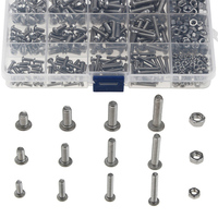 M3 440pcs/set Screws Nuts Kits Set Stainless Steel Hex Head Socket Screws and Nuts Assortment