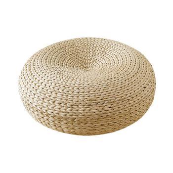 Cuscino Tatami intrecciato a mano cuscino in Rattan di paglia naturale cuscino per sedia da Yoga cuscino per sedile cuscino per meditazione decorazione per la casa artigianato