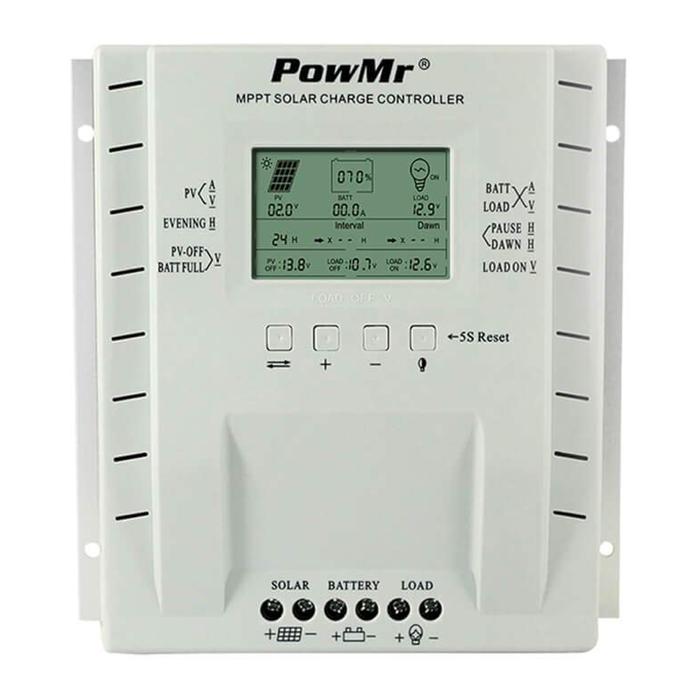 Powmr Mppt Charge Controller 40 Amp,Solar Panel Charge Controller 24V 1040W 12V 520W Weatherproof Solar Charge For Agm FloodedPowmr Mppt Charge Controller 40 Amp,Solar Panel Charge Controller 24V 1040W 12V 520W Weatherproof Solar Charge For Agm Flooded
