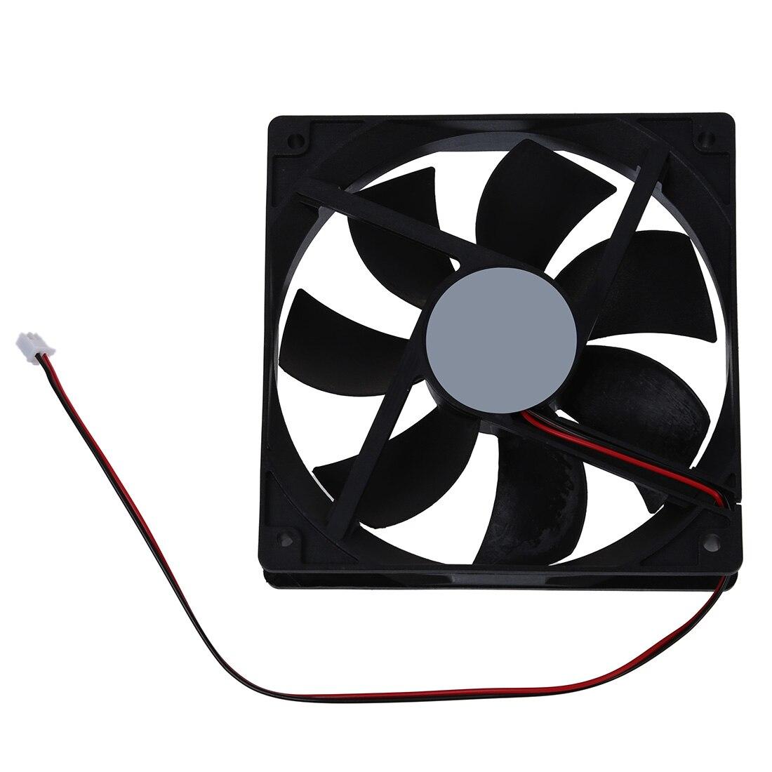 Poux 120mm x 25mm 12 V 2Pin manchon ventilateur de refroidissement pour coque dordinateurPoux 120mm x 25mm 12 V 2Pin manchon ventilateur de refroidissement pour coque dordinateur