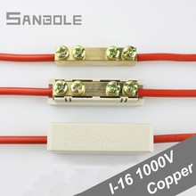 10 Square Terminal Transitional Connection of Copper Aluminum Joints Wire connector high power 80A/1000V (10PCS)
