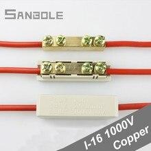 10 kare Terminal geçiş bağlantısı bakır alüminyum bağlantı elemanları tel konektörü yüksek güç 80A/1000V (10 adet)