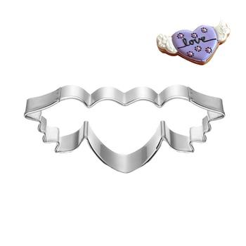 Сердце металлический резак для печенья Крыло ангела День Святого Валентина украшения торта инструмент для вечеринки Patisserie Gateau Love печенье плесень оборудование для выпечки