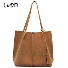 LUCDO высококачественные женские замшевые сумки, женская сумка из мягкой кожи, комплект из 2 сумок, женские сумки на плечо, большие повседневны...