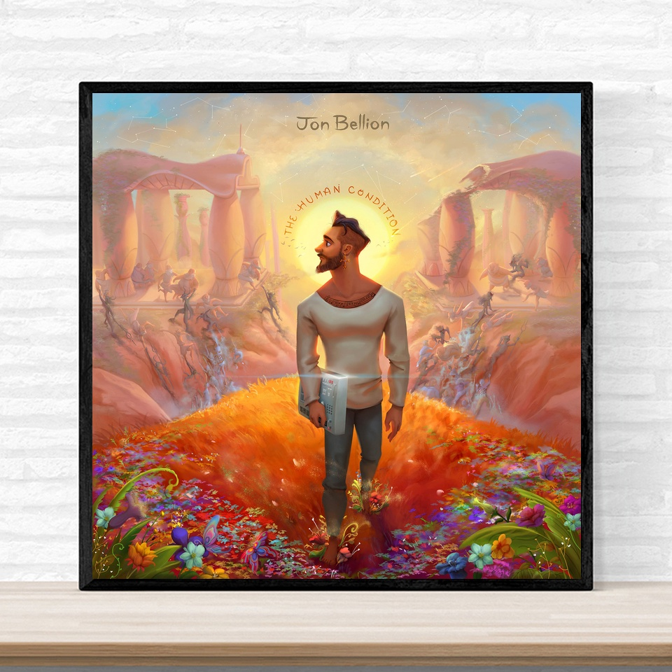 Jon Bellion All Time Low Music Album Cover Poster Print on Canvas Wall Art Home Decor No Frame image