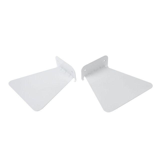 2 sztuk nowoczesne żelaza półka na książki ścienne niewidoczne regał do dekoracji wnętrz pływające regał (biały)