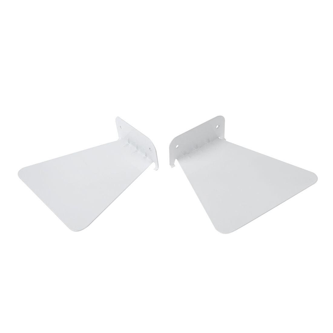 2 uds. Estante de pared de hierro moderno para libros estantería invisible para decoración del hogar librero flotante (blanco)