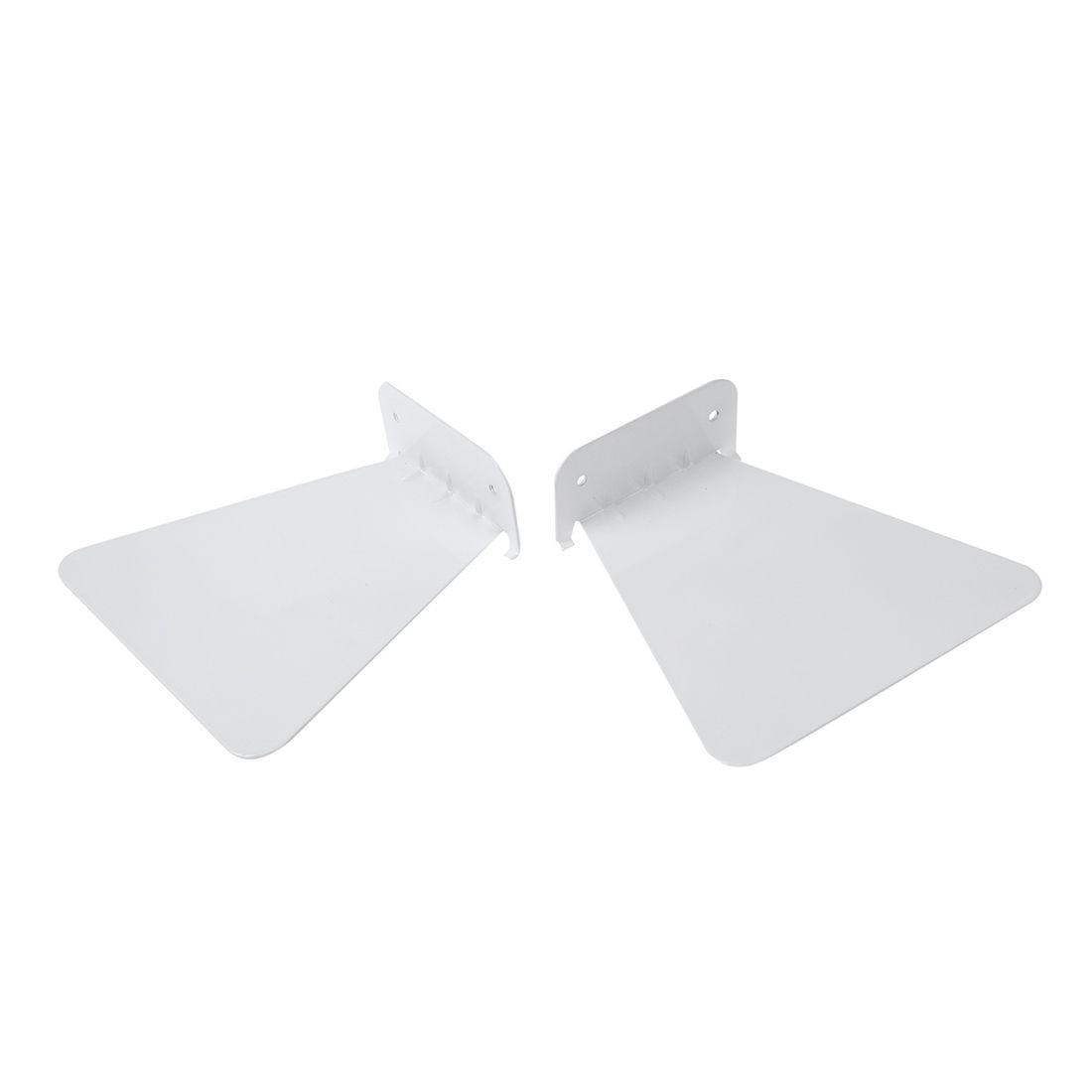 2pcs Modern Iron Book Shelf Wall Invisible Bookshelf For Home Decoration Floating Bookshelf(White)