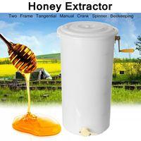 Пищевая пластиковая медогонка, два 2 кадра 40x70 см, тангенциальная ручная рукоятка, Спиннер для пчеловодства, легко Чистящая