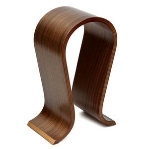 Image 4 - VODOOL עץ אוזניות Stand U צורת אוזניות מחזיק קלאסי אגוז גימור אוזניות Stand קולב לבית משרד סטודיו שינה