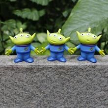 1 Pc Kawaii Toy Story Aliens Figure Giocattoli Portachiavi Alien Figure Figura  di Azione Della Bambola Anime Brinquedos Bambini . b63a9565dc3