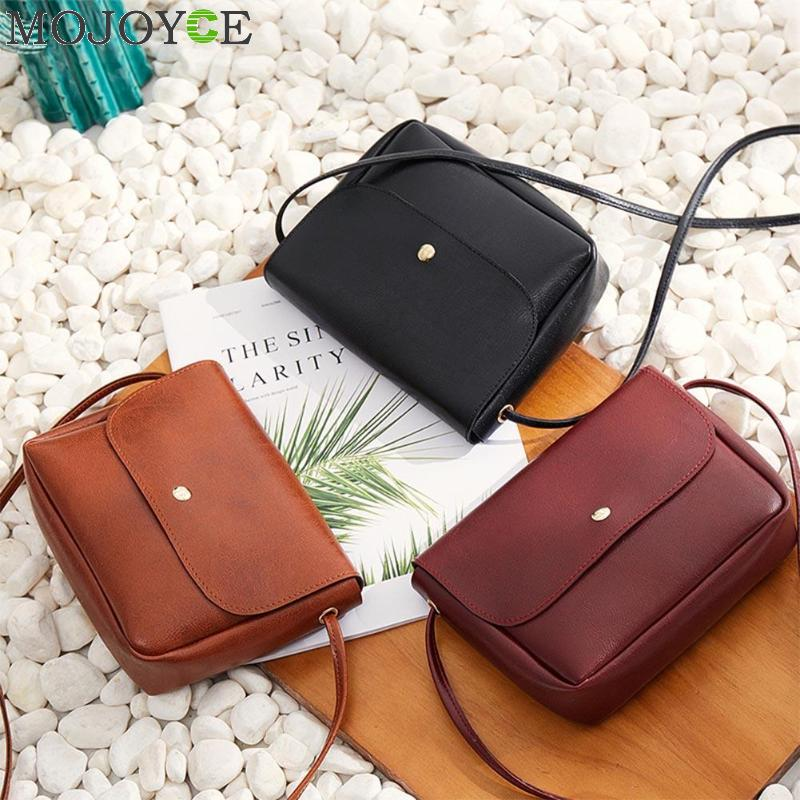 Vintage Solid Girls Shoulder Bag Female Fashion Handbags Women Leather Small Flap Satchel Crossbody Bag Bolsa FemininaVintage Solid Girls Shoulder Bag Female Fashion Handbags Women Leather Small Flap Satchel Crossbody Bag Bolsa Feminina