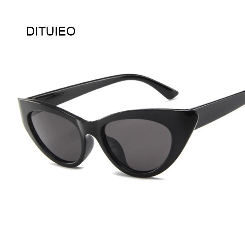 cec3bd3005 Ojo de Gato gafas de sol mujer marca diseñador de lujo Vintage ojos dulce  lindo gafas