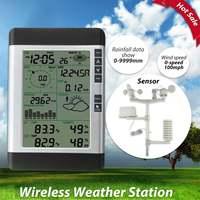 USB беспроводной бытовой и метеостанции ЖК термометр гигрометр прогноз погоды сенсор атмосферное давление будильник с прогнозом погоды