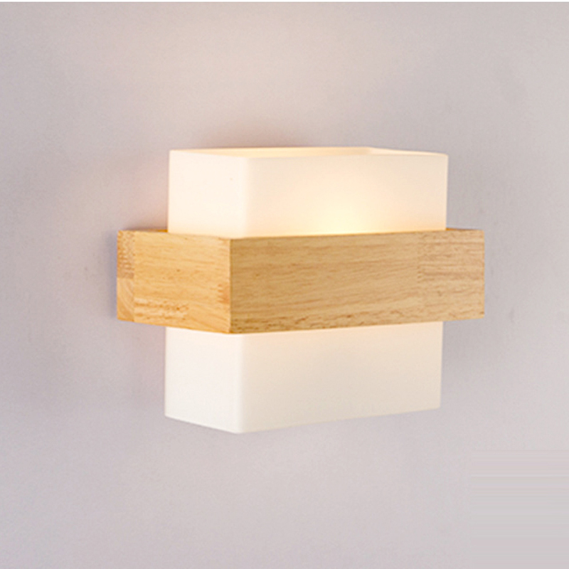 Led Indoor Wall Lamps Nordic Sconce Wall Lights For Bedroom Lamp Nordic Bedside Wall Lamp E27 Sconce Wall Lights Glass Wood Arandela Lampara Pared