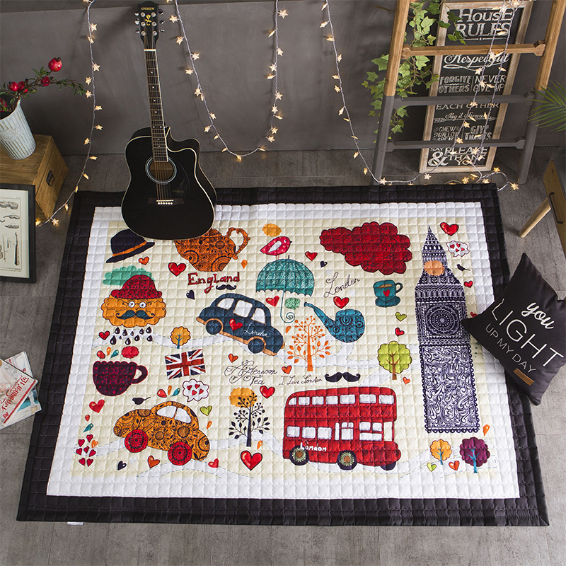 Animaux bébé développement tapis épais doux enfants tapis dans la chambre de bébé décoration tapis pour enfants bande dessinée bébé ramper tapis 145x195 cm