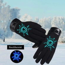 Anime Naruto Cosplay Glove Autumn Winter Keep Warm Noctilucent Black Full Finger Gloves Unisex Accessories Handwear Costume