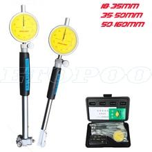 18-35-50-160мм 0,01 мм Индикатор диаметра стрелочного отверстия, индикаторы, прецизионный цилиндр двигателя, Измерительный набор, измерительный инструмент