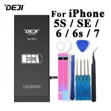 Deji Battery For iPhone 5s SE 6 6s 7 1800mAh-2200mAh Capacity Built-in Li-polymer Batteries+Tools Apple