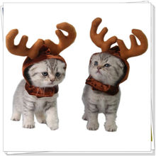 НОВАЯ РОЖДЕСТВЕНСКАЯ повязка на голову для собак, щенков, кошек, реквизит для косплея, шапка с оленьими рогами, костюм, головные уборы, аксессуары