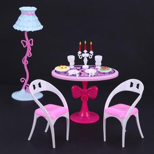 21 Stks/set Pop Candlelight Diner Gereedschap Voor Barbies 29 Cm Pop Mini Keuken Servies Meubels Kinderen Meisje Spelen Rol Speelgoed geschenken(China)