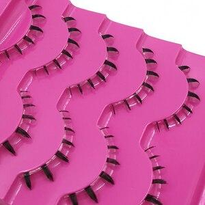 Image 2 - ICYCHEER 5 Pairs makyaj sahte kirpikler el yapımı 3D doğal altında takma kirpikler alt alt kirpik uzatma