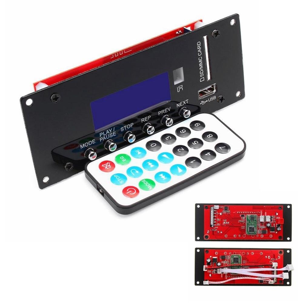 12V Wireless bluetooth 4.0 MP3 Audio Decoder Board Radio Module APE/FLAC/MP3/WMA/WAV APP Control For Car