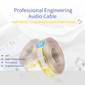Image 4 - CHOSEAL DIY HIFI Loud Speaker Audio Cable Wire Oxygen Free Cooper Speaker Wire DIY 50/100/150/200 Core For home Theater